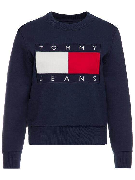 Tommy Jeans Tommy Jeans Суитшърт Flag DW0DW07414 Тъмносин Regular Fit