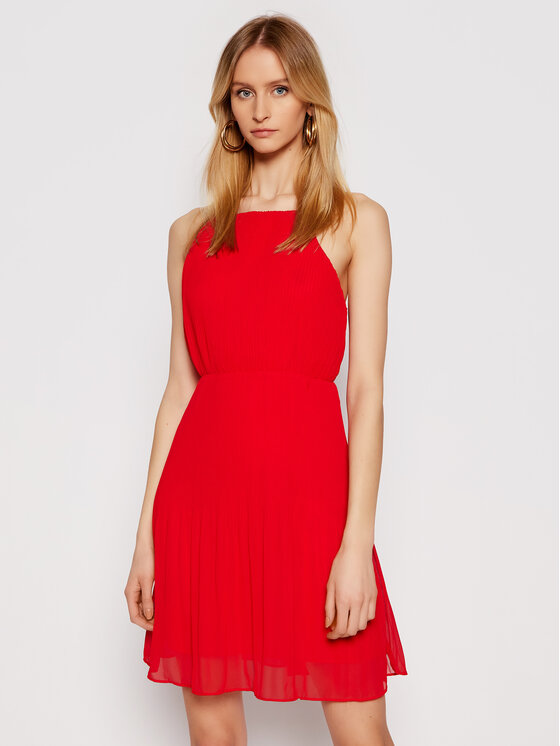 Pepe Jeans Pepe Jeans Sukienka koktajlowa Mine PL952857 Czerwony Regular Fit