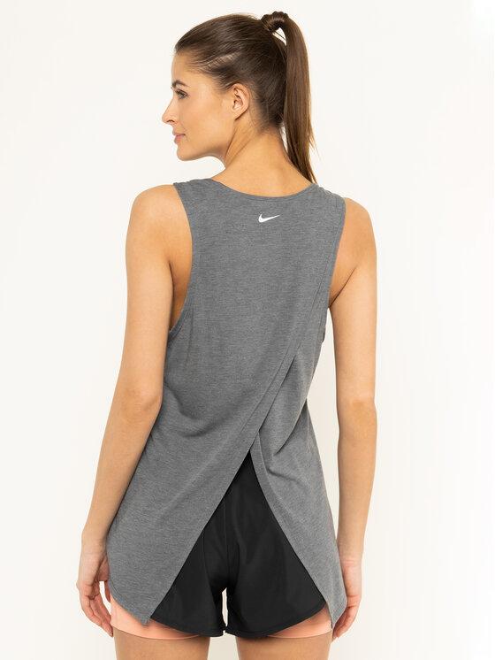 Nike Nike Koszulka techniczna Yoga BV4371 Szary Standard Fit