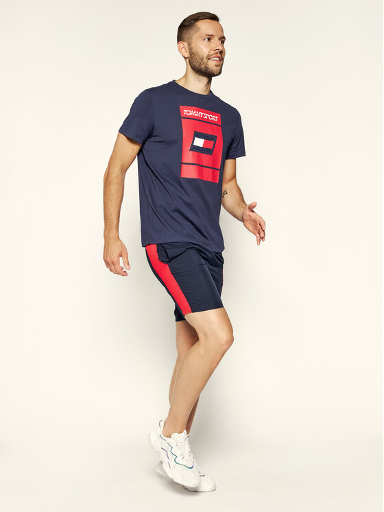 Tommy Sport Tommy Sport T-Shirt Graphic S20S200193 Granatowy Regular Fit