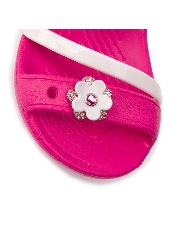 Crocs Crocs Sandały Lina Charm Sandal K 205530 Różowy