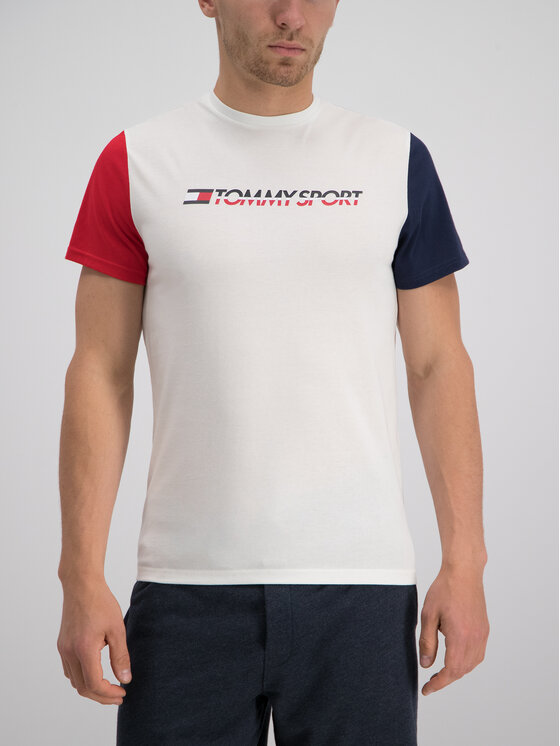 Tommy Sport Tommy Sport T-Shirt S20S200103 Λευκό Regular Fit