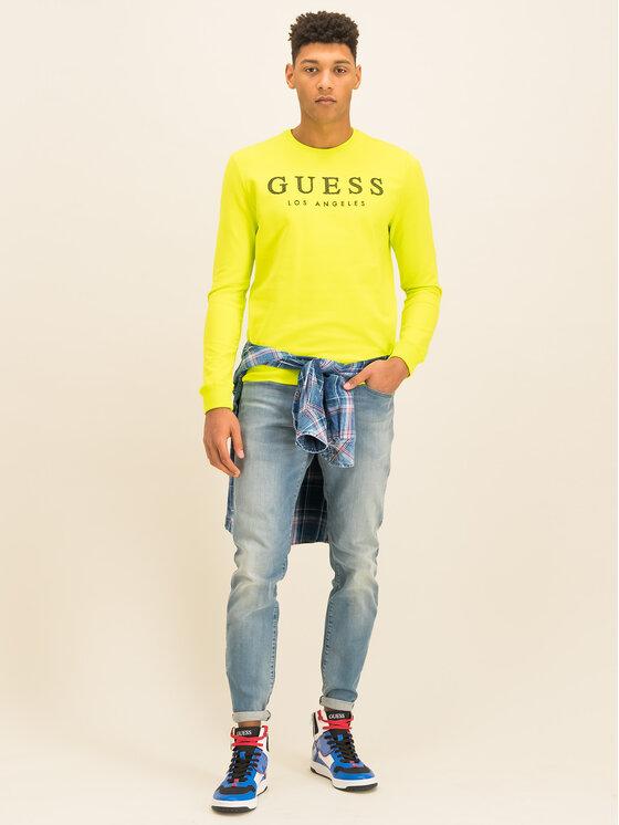 Guess Guess Bluză M01Q54 K6ZS0 Verde Slim Fit
