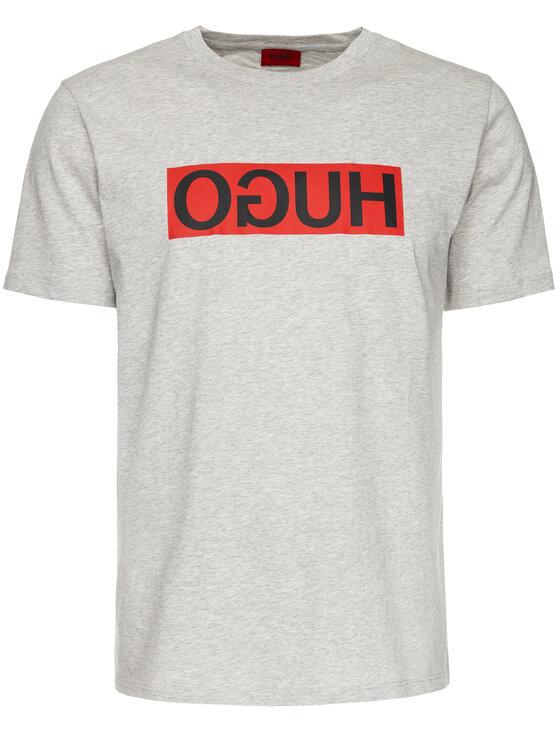 Hugo Hugo T-Shirt 50417216 Šedá Regular Fit