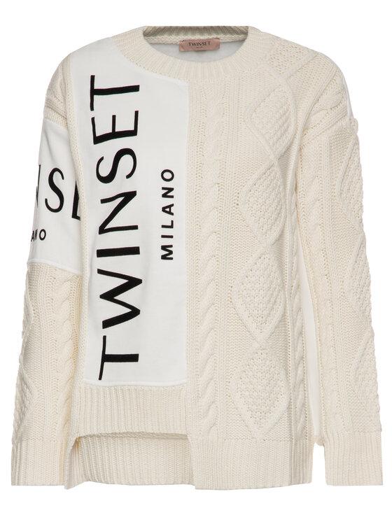 TwinSet TwinSet Megztinis 192TT3060 Smėlio Regular Fit
