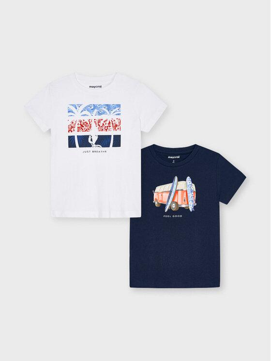 Mayoral 2 marškinėlių komplektas 3033 Spalvota Regular Fit