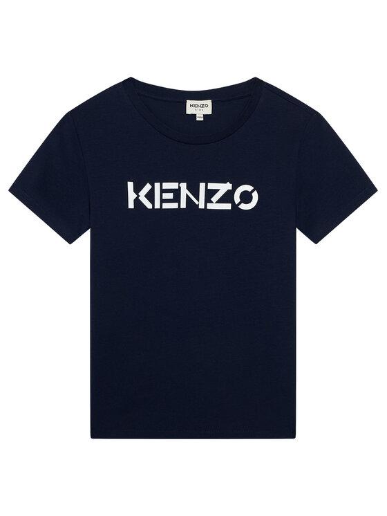 Kenzo Kids Marškinėliai K15082 S Tamsiai mėlyna Regular Fit