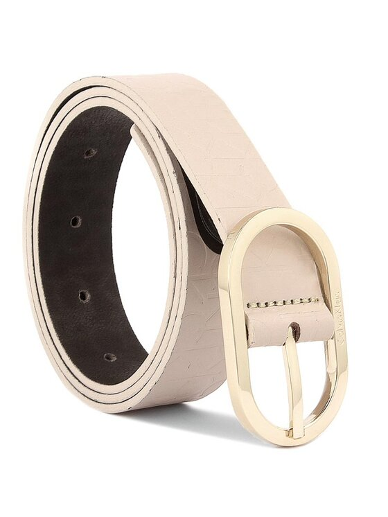 Calvin Klein Calvin Klein Dámský pásek Mish4 Logo Belt K60K602239 80 Béžová