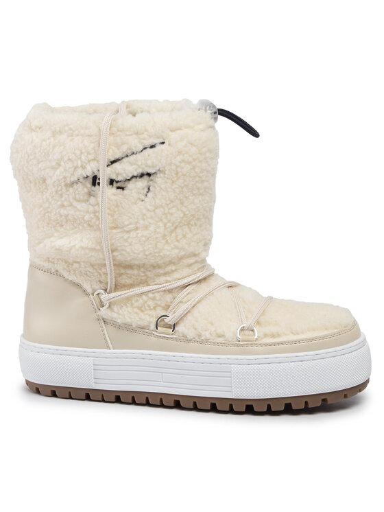 Tommy Jeans Tommy Jeans Обувки Signature Teddy Snowboot EN0EN00702 Бежов
