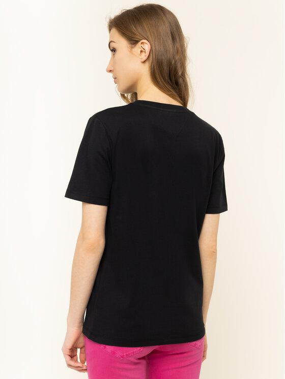 Tommy Jeans Tommy Jeans T-Shirt Tjw Neon Collefiate Tee DW0DW07540 Czarny Regular Fit
