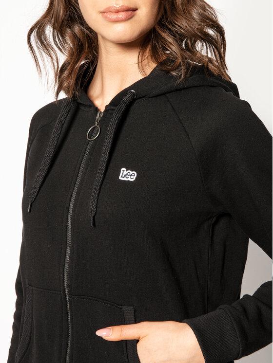 Lee Lee Bluza Zip Throught L53QBR01 Czarny Regular Fit