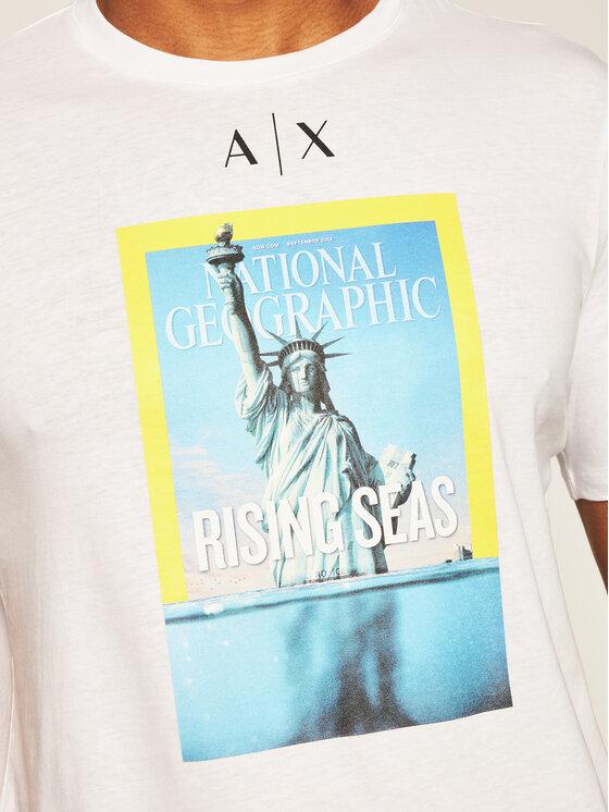 Armani Exchange Armani Exchange T-Shirt 6HZTEE ZJ3DZ 1100 Bílá Regular Fit