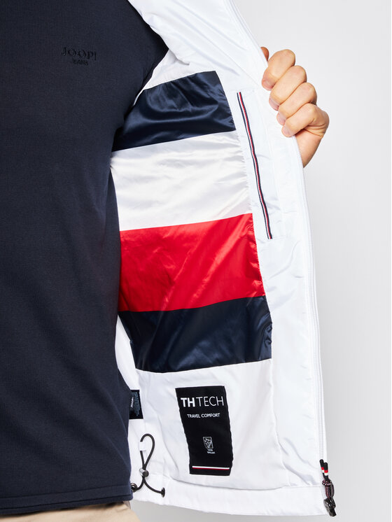 Tommy Hilfiger Tommy Hilfiger Преходно яке Light Weight Hooded MW0MW12216 Бял Regular Fit