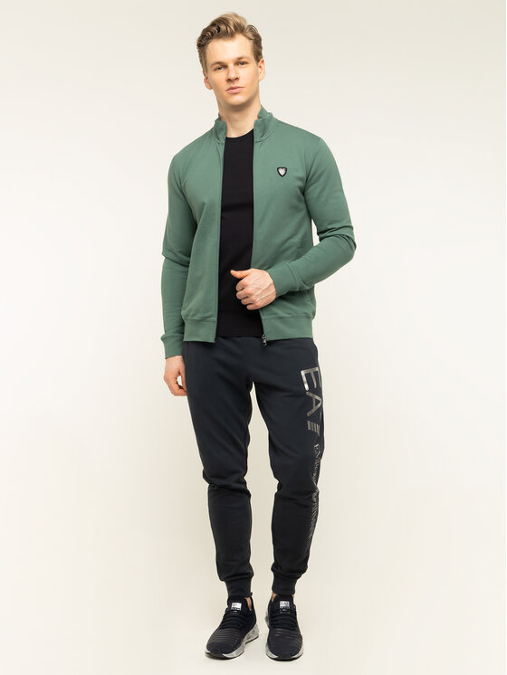 EA7 Emporio Armani EA7 Emporio Armani Суитшърт 8NPMB8 PJ05Z 1858 Зелен Regular Fit