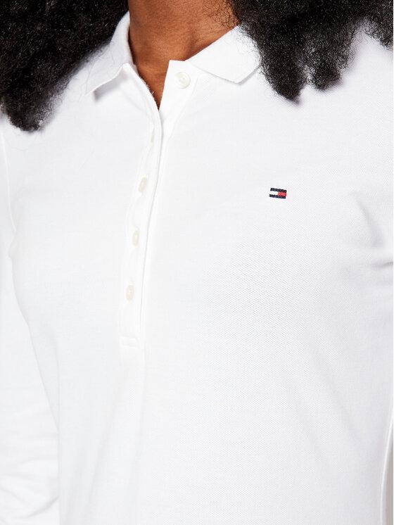 Tommy Hilfiger Tommy Hilfiger Polo Heritage WW0WW24972 Biały Slim Fit