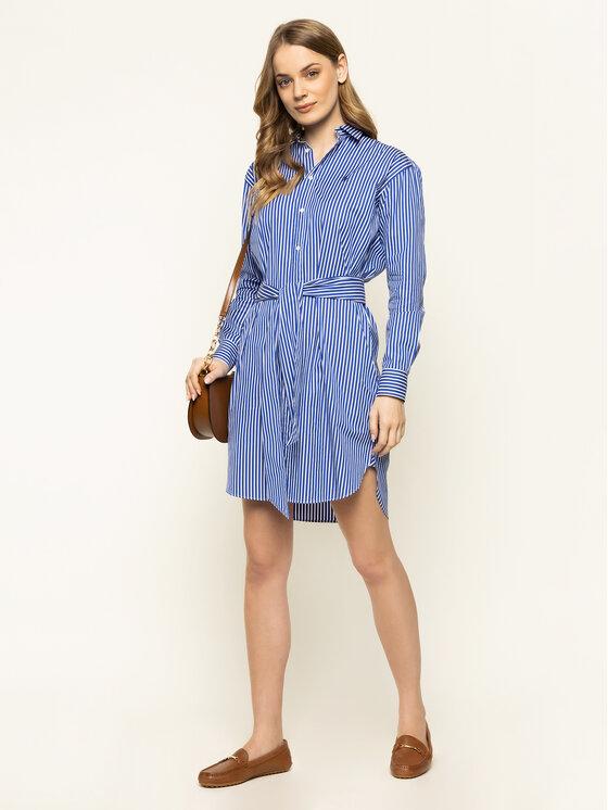 Polo Ralph Lauren Polo Ralph Lauren Φόρεμα πουκάμισο Striped 211781122 Μπλε Regular Fit