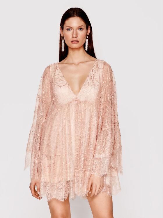 Babylon Kokteilinė suknelė N_MF5008 Rožinė Regular Fit