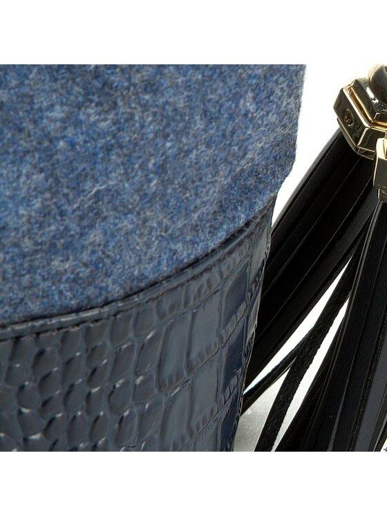 Tommy Hilfiger Tommy Hilfiger Дамска чанта Tommy Bucket Mini Bucket Croco AW0AW03154 Тъмносин