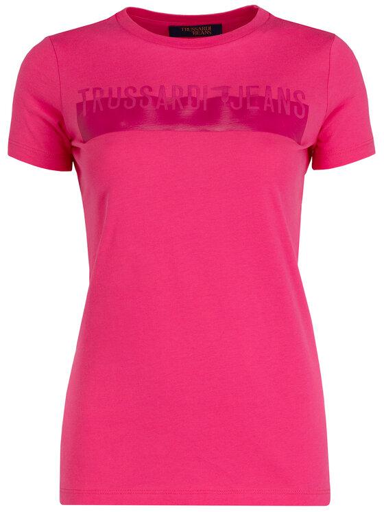 Trussardi Trussardi Tričko Cotton Jersey 56T00192 Ružová Regular Fit