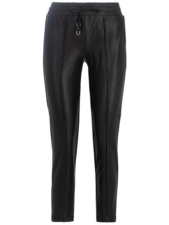 Guess Guess Kožené kalhoty W93B70 WBG60 Černá Regular Fit