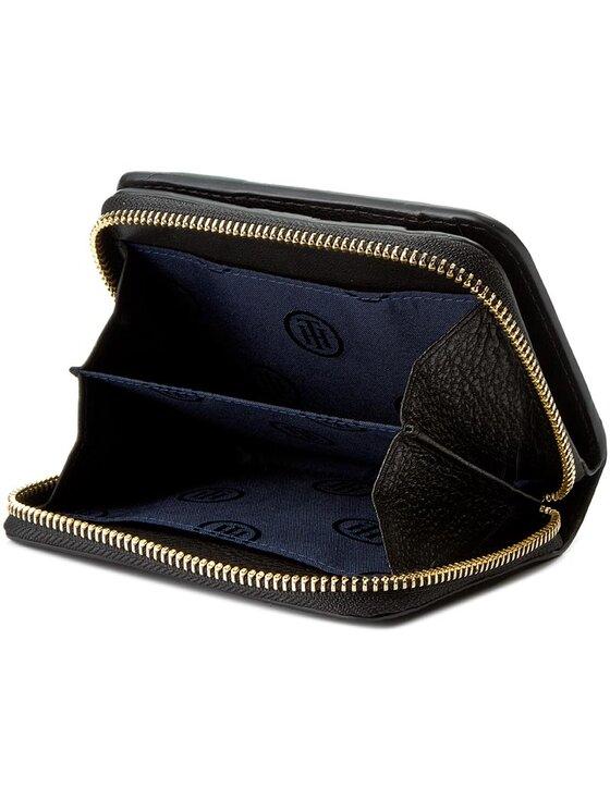 Tommy Hilfiger Tommy Hilfiger Малък дамски портфейл Soft Leather Compact Zip W/Flap AW0AW04118 Черен