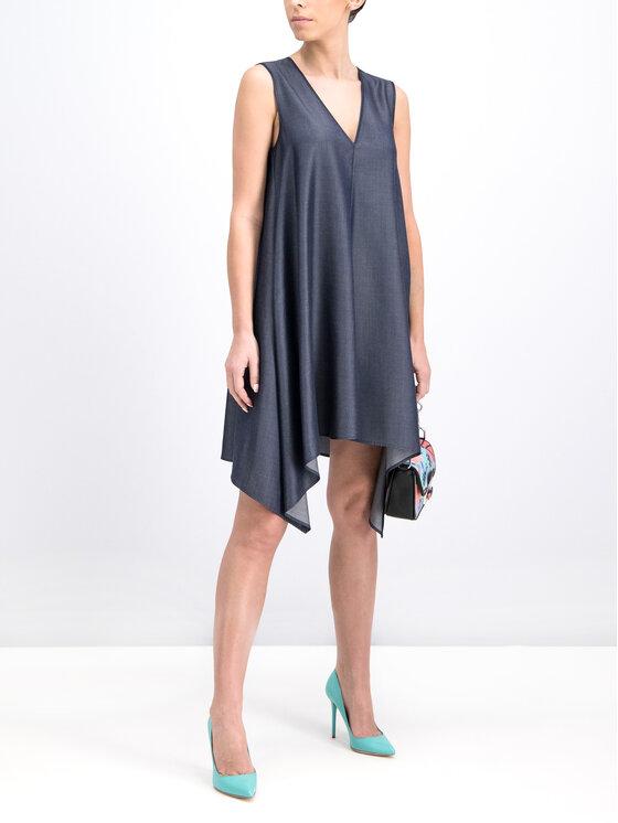 Trussardi Trussardi Коктейлна рокля 56D00239 Тъмносин Regular Fit