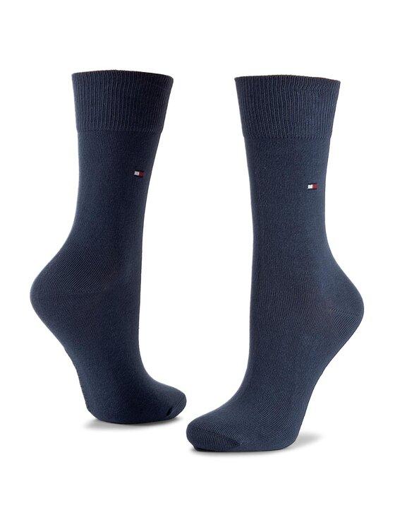 Tommy Hilfiger Tommy Hilfiger Set di 2 paia di calzini lunghi da bambini 434003001 Blu scuro