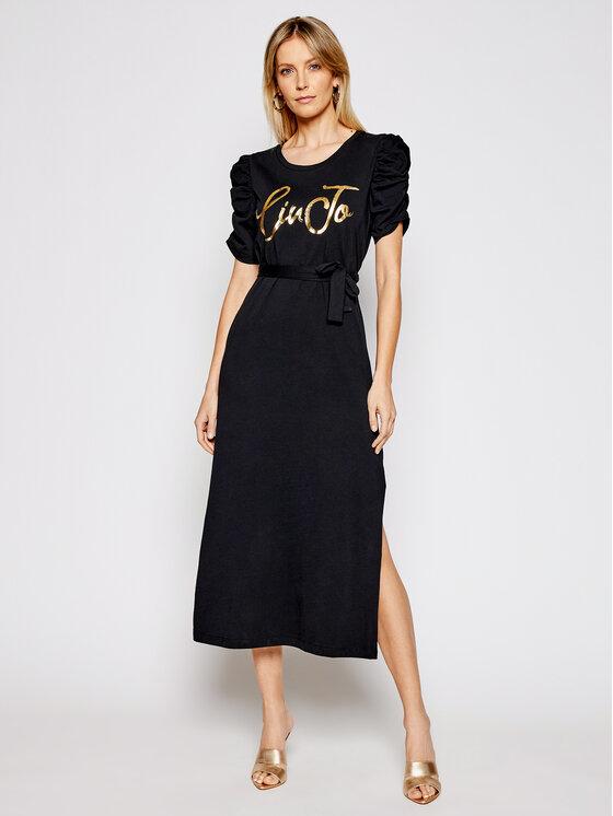 Liu Jo Liu Jo Sukienka codzienna WA1246 J5703 Czarny Regular Fit