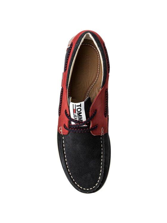 Tommy Jeans Tommy Jeans Мокасини Suede Boatshoe EM0EM00094 Тъмносин