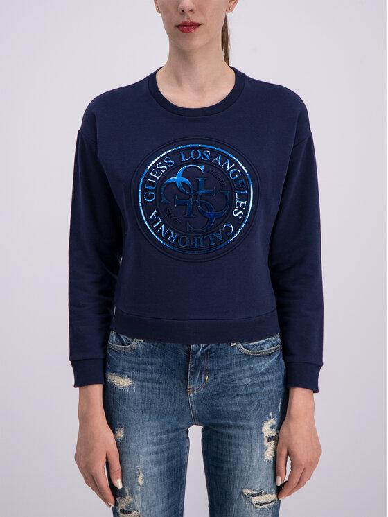 Guess Guess Džemperis W93Q58 K6930 Tamsiai mėlyna Regular Fit
