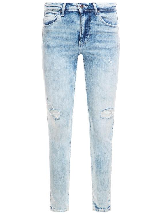 Guess Guess Jeansy Super High Rise W01A26 D3U53 Modrá Skinny Fit
