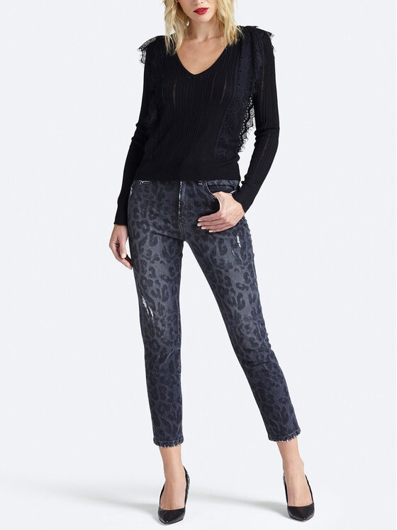 Guess Guess Jeansy The It Girl Skinny W93A35 D3OT0 Szary Regular Fit