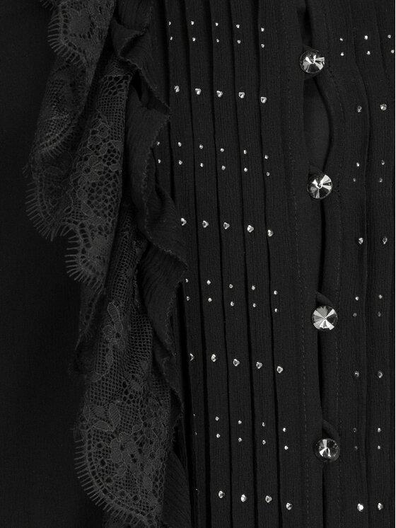 The Kooples The Kooples Kokteilinė suknelė Lace & Flounces FROB18019K Juoda Regular Fit