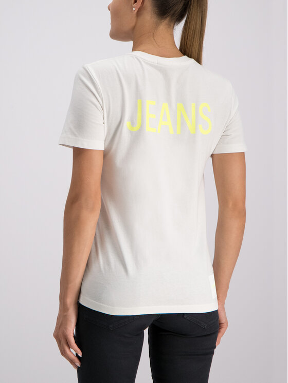 Calvin Klein Jeans Calvin Klein Jeans Тишърт J20J211806 Бял Regular Fit