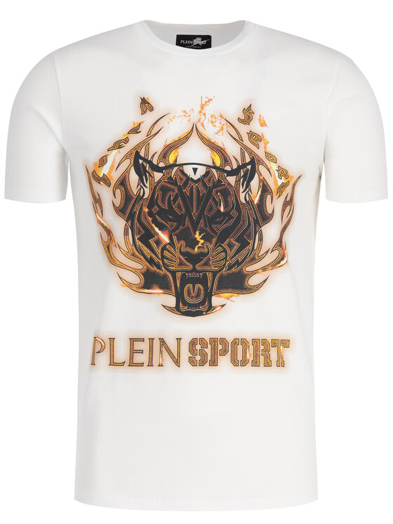 Plein Sport Plein Sport T-Shirt F19C MTK3710 SJY001N Biały Regular Fit