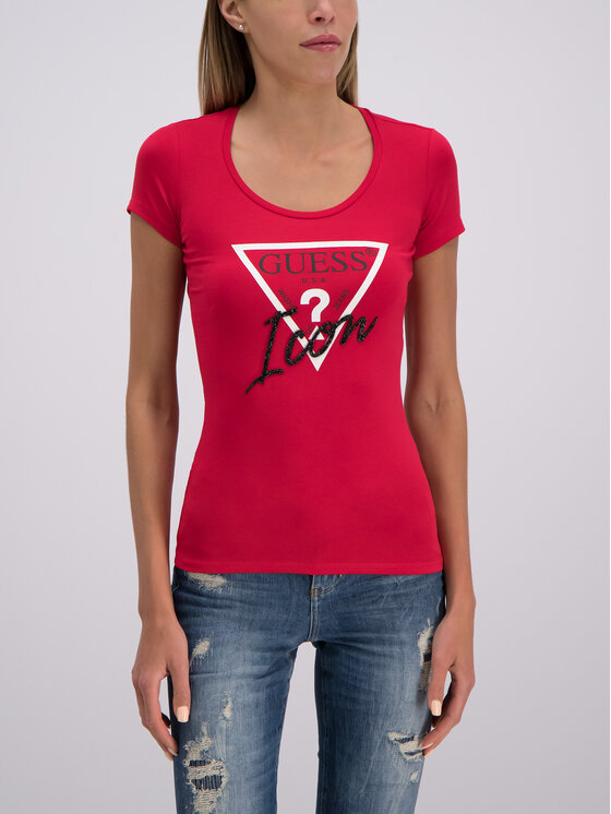 Guess Guess T-Shirt W93I89 J1300 Rot Slim Fit