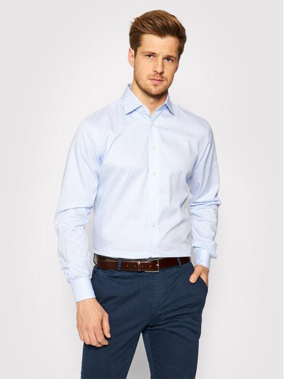 Emanuel Berg Marškiniai MCR37 Mėlyna Regular Fit