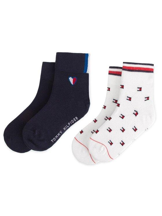 Tommy Hilfiger Tommy Hilfiger Sada 2 párů dětských vysokých ponožek 394010001 Bílá