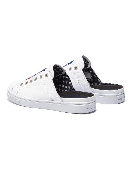 Tommy Hilfiger Tommy Hilfiger Чехли Slip One City Sneaker FW0FW03769 Бял