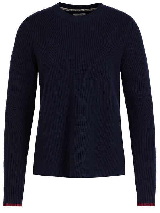 Tommy Jeans Tommy Jeans Πουλόβερ Side Slit DW0DW07178 Σκούρο μπλε Regular Fit
