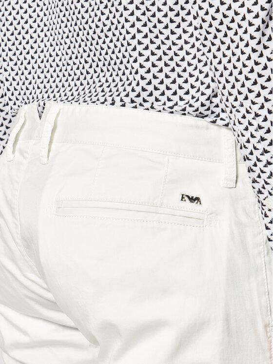 Emporio Armani Emporio Armani Текстилни панталони 3H1P20 1NEDZ 0101 Бял Slim Fit
