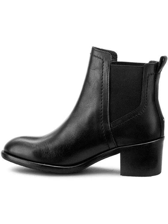 TOMMY HILFIGER TOMMY HILFIGER Členková obuv s elastickým prvkom New Parson 5A FW56821546 Čierna