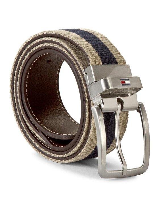 Tommy Hilfiger TOMMY HILFIGER Pánský pásek Th Stripe Belt 3.5 Rev AM0AM00873 85