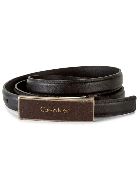 Calvin Klein Calvin Klein Pasek Damski Juli3t Skinny Belt K60K602611 80 Czarny