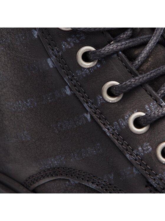 Tommy Jeans Tommy Jeans Ilgaauliai Embossed Nubuck Boot EM0EM00234 Juoda