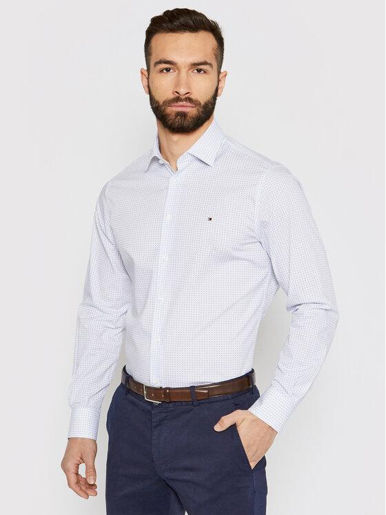 Tommy Hilfiger Tailored Marškiniai Geo Dot Prt MW0MW16466 Mėlyna Regular Fit
