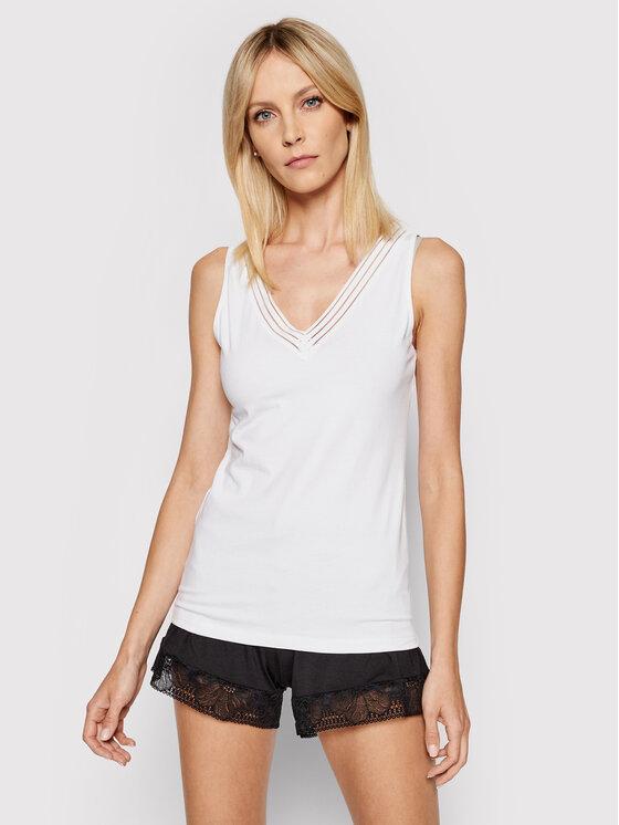 Femilet by Chantelle Apatiniai marškinėliai Nova FN4690 Balta Slim Fit
