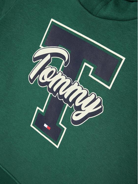Tommy Hilfiger Tommy Hilfiger Bluza Varsity Graphic KB0KB06146 D Zielony Regular Fit