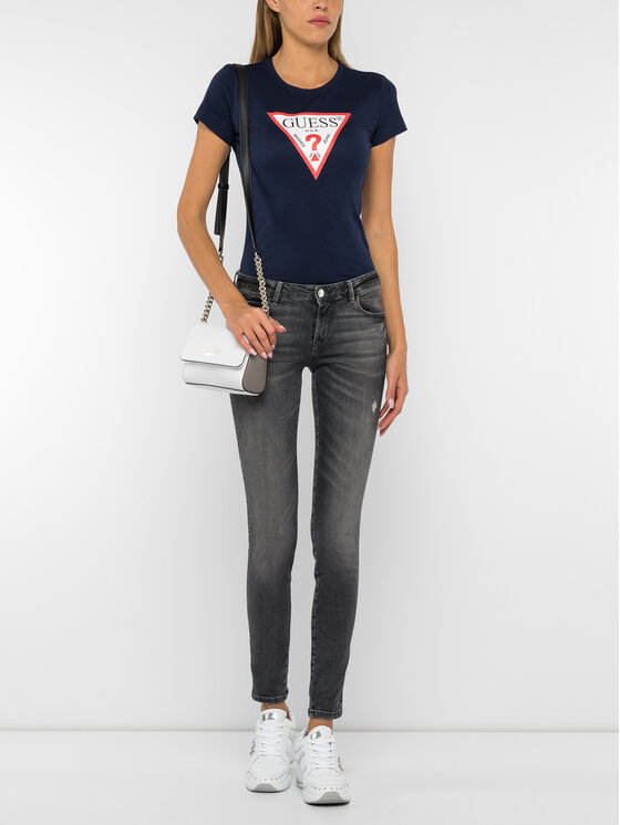 Guess Guess T-Shirt W94I29 K19U1 Σκούρο μπλε Slim Fit