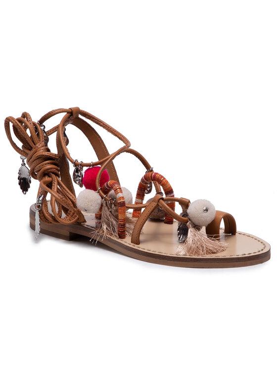 TWINSET Basutės Sandalo 211TCT180 Ruda